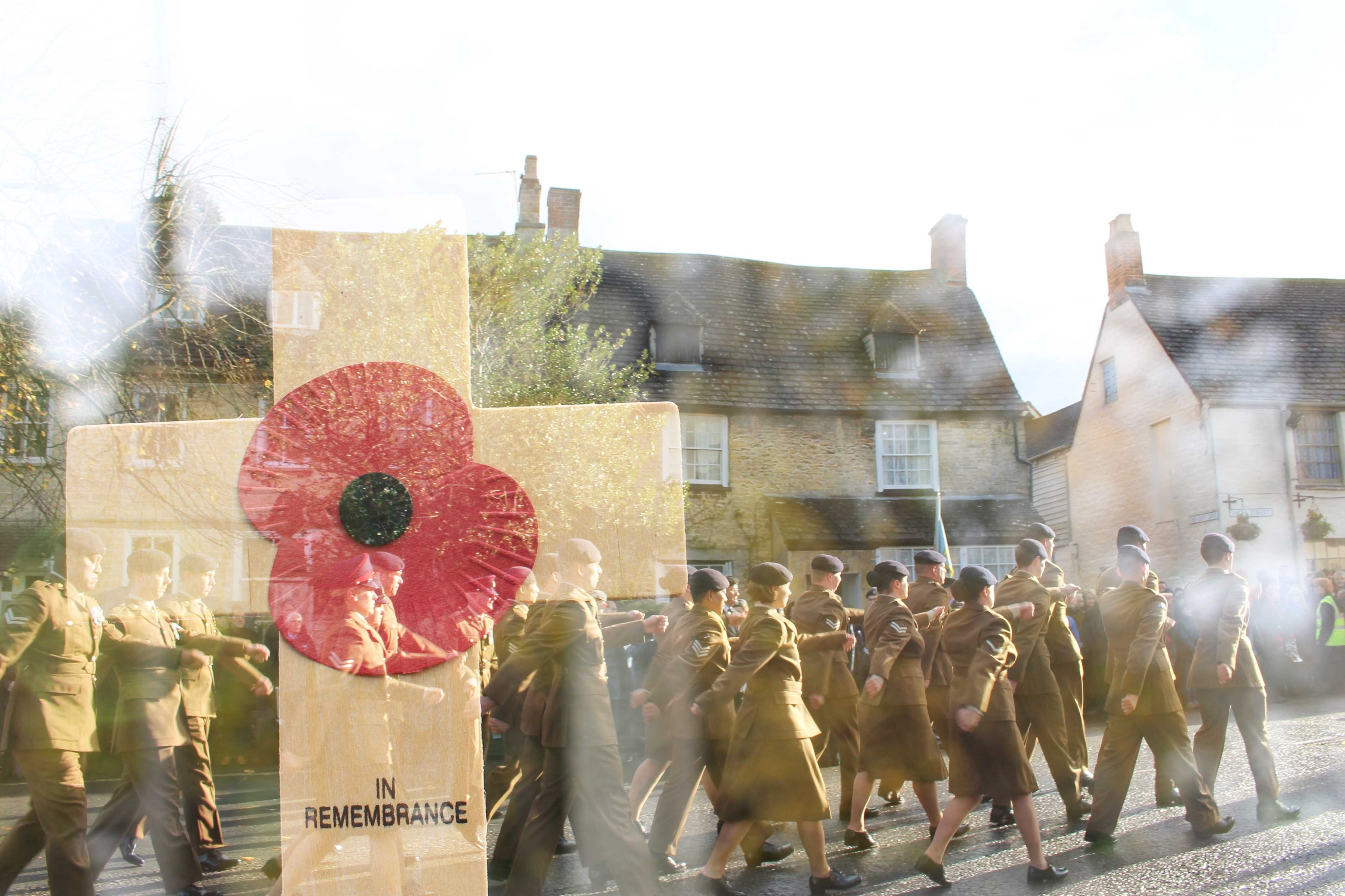 Armed Forces working to mark their respect in Cricklade Bliss Baker