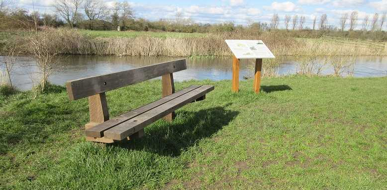 Fairview Fields bench and heritage board April 16